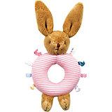 Погремушка-кольцо Зайчик, розовое, 16см , Trousselier
