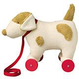 "Мягкая игрушка ""Собака на колесиках с поводком"", 32см, Trousselier"