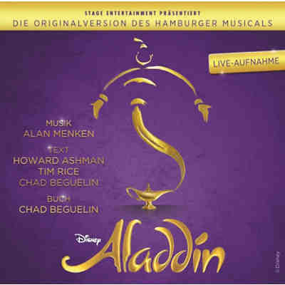 CD Aladdin- Originalversion des Musicals