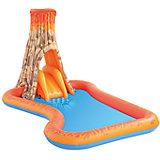 Игровой бассейн с брызгалкой и горкой Вулкан, Bestway