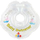 Круг для купания с погремушкой внутри BabySwimmer, прозрачный