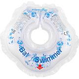Круг для купания BabySwimmer, голубой- Гжель