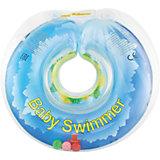 Круг для купания с погремушкой внутри СОЛНЕЧНЫЙ ОСТРОВ BabySwimmer, голубой