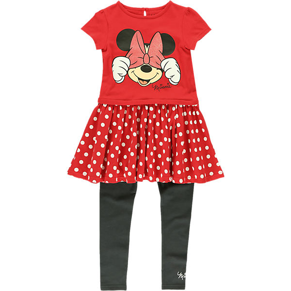 DISNEY MINNIE MOUSE Set Kleid + Leggings