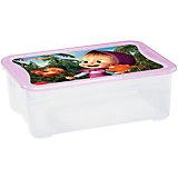 """Ящик для игрушек 555х390х190 мм """"Маша и Медведь"""", Пластишка, сиреневый"""