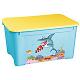 Ящик для игрушек 555х390х290 мм, Пластишка, голубой