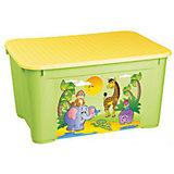Ящик для игрушек 555х390х290 мм, Пластишка, зеленый