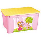 Ящик для игрушек 555х390х290 мм, Пластишка, розовый