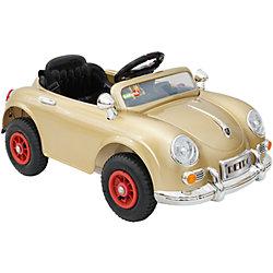 Электромобиль Retro, золотой, BabyHit