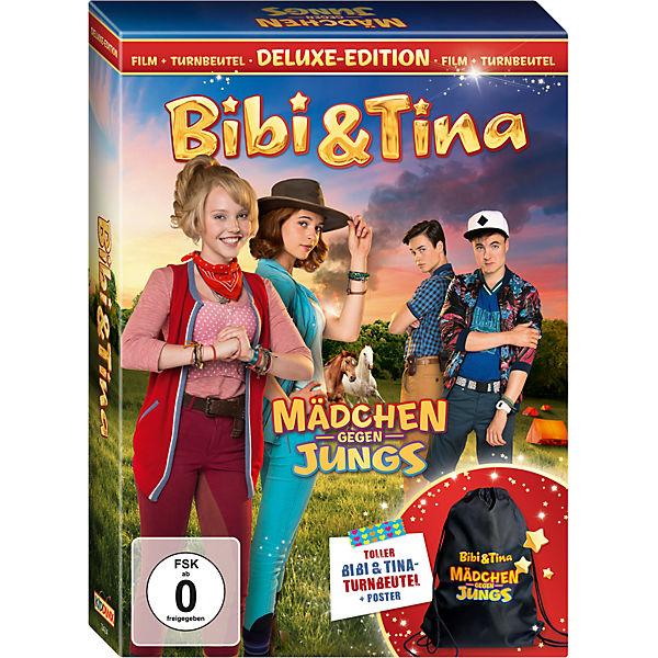 dvd bibi tina 3 m dchen gegen jungs deluxe edition mit turnbeutel bibi und tina mytoys. Black Bedroom Furniture Sets. Home Design Ideas