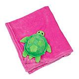 Одеяло с игрушкой Черепашка, Zoocchini, розовый