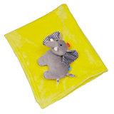 Одеяло с игрушкой Слон, Zoocchini, жёлтый