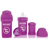 Антиколиковая бутылочка 180 мл., Twistshake, фиолетовый