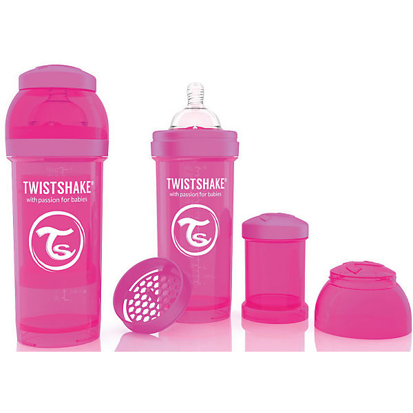 Антиколиковая бутылочка 260 мл., Twistshake, розовый