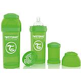 Антиколиковая бутылочка 260 мл., Twistshake, зелёный