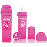 Антиколиковая бутылочка 330 мл., Twistshake, розовый