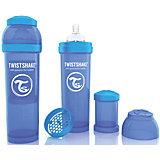 Антиколиковая бутылочка 330 мл., Twistshake, синий