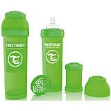 Антиколиковая бутылочка 330 мл., Twistshake, зелёный