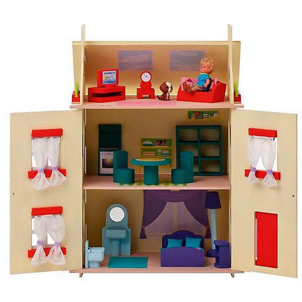 """Кукольный домик """"София"""" с мебелью 15 предметов, PAREMO"""