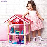 """Кукольный домик """"Роза Хутор"""" с мебелью 15 предметов, PAREMO"""