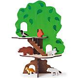 """Игрушка-конструктор """"Дом-дерево с 6 фигурками животных"""", PAREMO"""