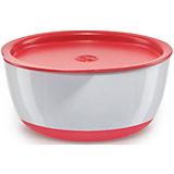 Набор тарелок с крышкой, Happy Baby, красный