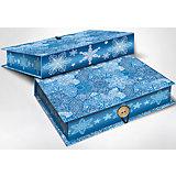 """Подарочная коробка """"Морозные узоры"""" 20*14*6 см"""