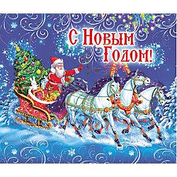 """Магнит """"Дед Мороз на тройке"""