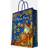 """Подарочный пакет """"Мастерская Деда Мороза"""" 33*45,7*10,2 см"""