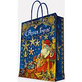 """Подарочный пакет """"Мастерская Деда Мороза"""" 17,8*22,9*9,8 см"""