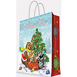 """Подарочный пакет """"Медвежонок и еноты""""  26*32,4*12,7 см"""