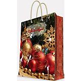 """Подарочный пакет """"Новогодние шары"""" 33*45,7*10,2 см"""