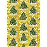 """Упаковочная бумага """"Золотая елка"""" 100*70 см"""
