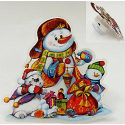 """Украшение """"Снеговик"""" со светодиодной подсветкой"""