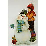 """Украшение """"Снеговик и мальчик"""" со светодиодной подсветкой"""