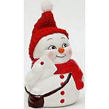 """Керамический снеговик """"Почтальон"""""""