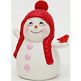 """Керамический снеговик """"Со снегирем"""""""
