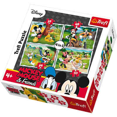 4in1 Puzzle - 35/48/54/70 Teile - Micky Maus