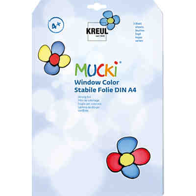 Mucki Window Color Stabile Malfolie, 3 Blatt