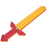 Пиксельный меч, оранжевый, 75 см, Minecraft