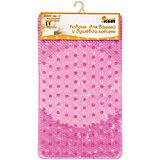 Коврик для ванной  BMM-66-P с массажным эффектом, 66*39 см, Рыжий Кот, розовый