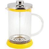 Кофе-пресс стеклянный GFP01-800ML-Y, Mallony, жёлтый