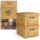Короб картонный, складной, малый, 25*33*18.5 см, 2 шт., EGYPT, Valiant