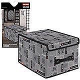 Короб стеллажный с крышкой, большой, 30*40*25 см, JAPANESE BLACK, Valiant