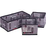 Набор органайзеров, 3 шт., без крышки, JAPANESE BLACK, Valiant