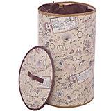 Корзина для белья с крышкой, d35 см, h55 см, ROMANTIC, Valiant