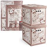 Короб картонный, складной, большой, 28*38*31.5 см, 2 шт., ROMANTIC, Valiant