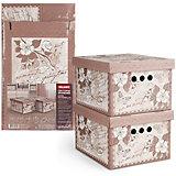 Короб картонный, складной, малый, 25*33*18.5 см, 2 шт., ROMANTIC, Valiant