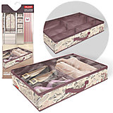 Кофр для обуви со съемными перегородками, 6 секций, 60*40*12 см, ROMANTIC, Valiant