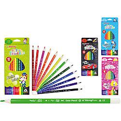 Трехгранные цветные карандаши, 12 цветов